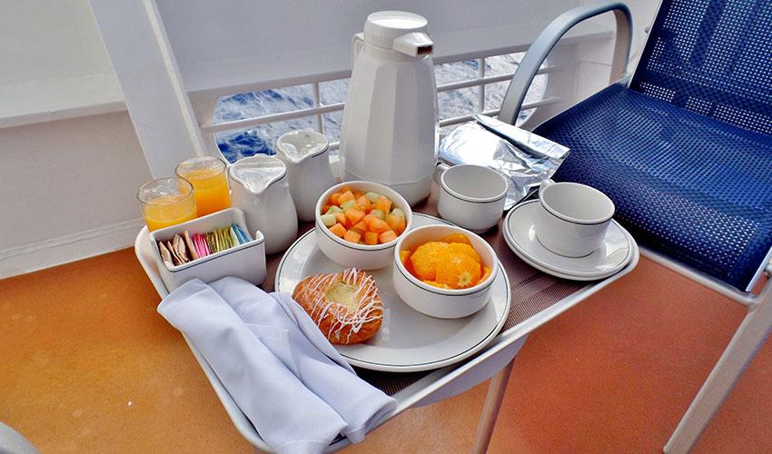 cruise ship musician salary perk - free breakfast